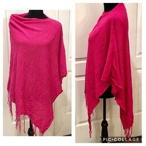 Knit Poncho Asymmetrical Sweater Cowell Neck